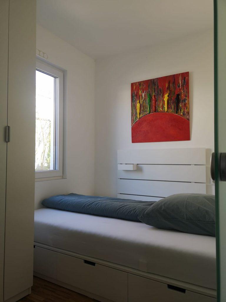 Schlafzimmer im Ferienhaus an der Bergstraße